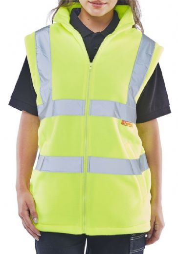 Be Seen High Vis Fleece Gilet CARFGSYL
